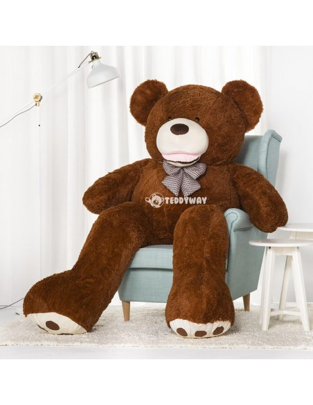 Dark Brown Giant Teddy Bear 200 CM – 78 Inch – BoBo Giant Teddy Bears - Big Teddy Bears - Huge Stuffed Bears