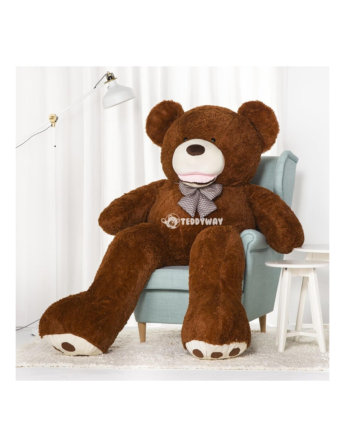 100cm Large giant Soft Teddy bear Plush doll Stuffed toy Fluffy Light brown Gift