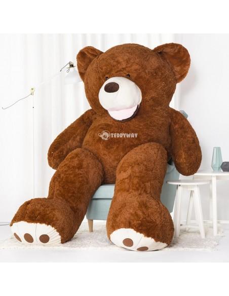 Dark Brown Giant Teddy Bear 260 CM – 102 Inch – BoBo Giant Teddy Bears - Big Teddy Bears - Huge Stuffed Bears - Teddyway