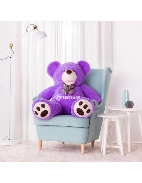 Purple Giant Teddy Bear 130 CM – 51 Inch – BoBo Giant Teddy Bears - Big Teddy Bears - Huge Stuffed Bears