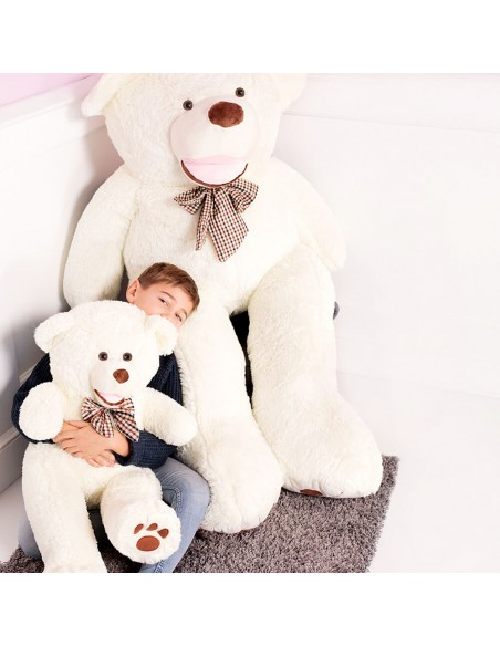 White Giant Teddy Bear 100 CM – 39 Inch – BoBo Giant Teddy Bears - Big Teddy Bears - Huge Stuffed Bears