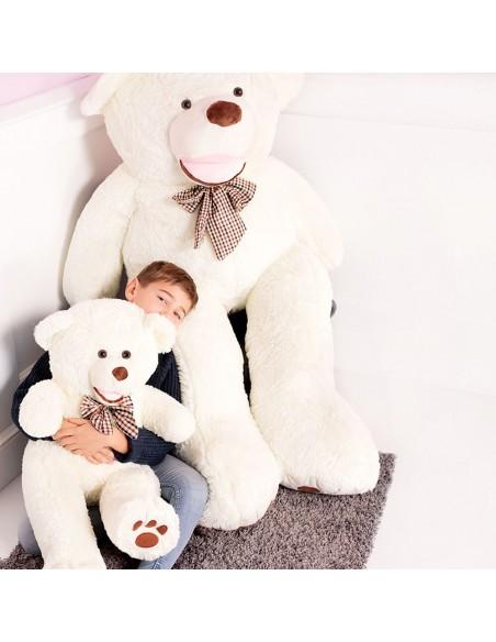 White Giant Teddy Bear 100 CM – 39 Inch – BoBo Giant Teddy Bears - Big Teddy Bears - Huge Stuffed Bears - Teddyway