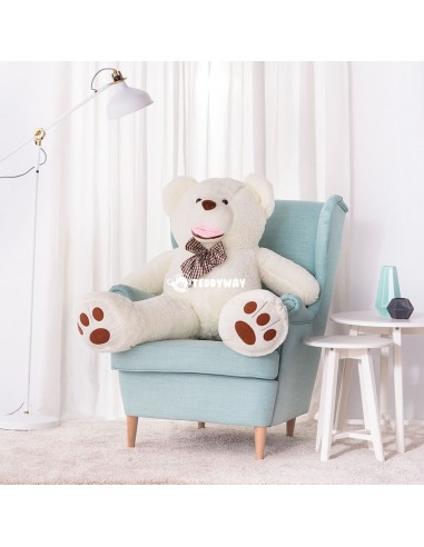 White Giant Teddy Bear 130 CM – 51 Inch – BoBo Giant Teddy Bears - Big Teddy Bears - Huge Stuffed Bears