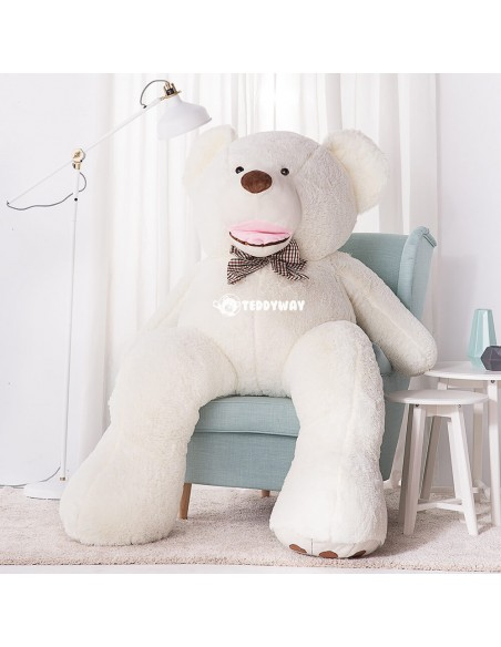White Giant Teddy Bear 200 CM – 78 Inch – BoBo Giant Teddy Bears - Big Teddy Bears - Huge Stuffed Bears