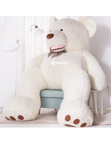 White Giant Teddy Bear 260 CM – 102 Inch – BoBo Giant Teddy Bears - Big Teddy Bears - Huge Stuffed Bears - Teddyway