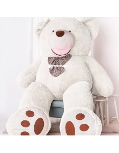 White Giant Teddy Bear 300 CM – 118 Inch – BoBo Giant Teddy Bears - Big Teddy Bears - Huge Stuffed Bears