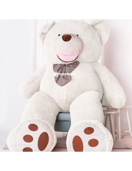 White Giant Teddy Bear 300 CM – 118 Inch – BoBo Giant Teddy Bears - Big Teddy Bears - Huge Stuffed Bears