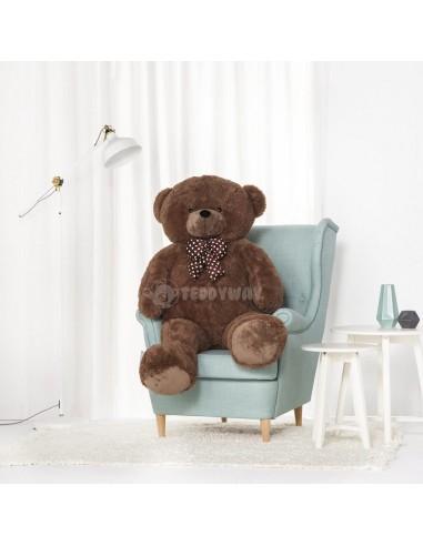Dark Brown Giant Teddy Bear 140 CM – 55 Inch – NoMo Giant Teddy Bears - Big Teddy Bears - Huge Stuffed Bears