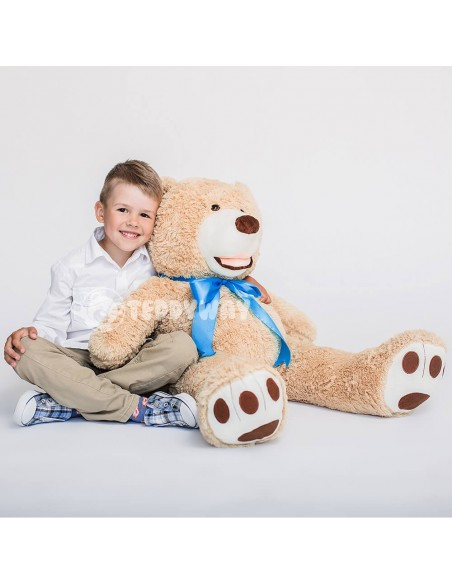 Light Beige Giant Teddy Bear 100 CM – 39 Inch – BoBo Giant Teddy Bears - Big Teddy Bears - Huge Stuffed Bears