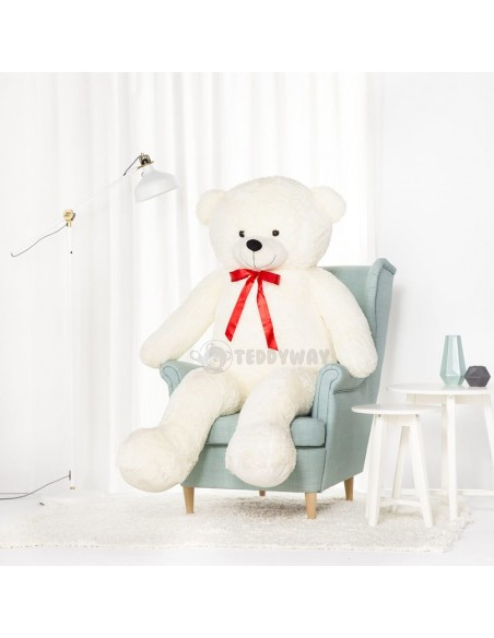 White Giant Teddy Bear 170 CM – 67 Inch – NoMo Giant Teddy Bears - Big Teddy Bears - Huge Stuffed Bears