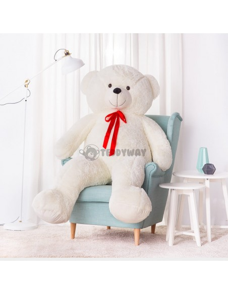 White Giant Teddy Bear 200 CM – 78 Inch – NoMo Giant Teddy Bears - Big Teddy Bears - Huge Stuffed Bears - Teddyway