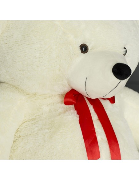 White Giant Teddy Bear 220 CM – 86 Inch – NoMo Giant Teddy Bears - Big Teddy Bears - Huge Stuffed Bears