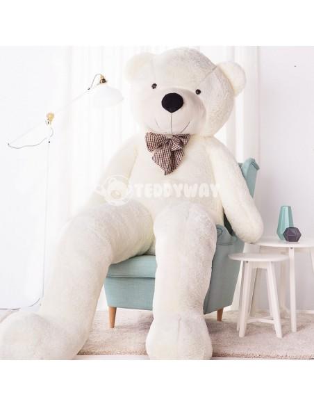 White Giant Teddy Bear 260 CM – 102 Inch – PoPo Giant Teddy Bears - Big Teddy Bears - Huge Stuffed Bears