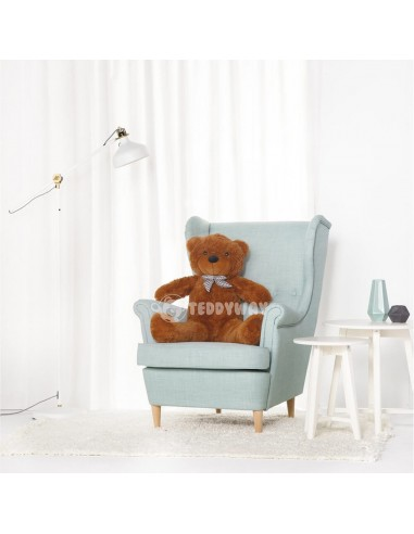 Dark Brown Giant Teddy Bear 100 CM – 39 Inch – PoPo Giant Teddy Bears - Big Teddy Bears - Huge Stuffed Bears - Teddyway