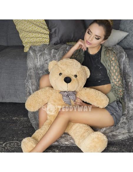 Light Beige Giant Teddy Bear 100 CM – 39 Inch – PoPo Giant Teddy Bears - Big Teddy Bears - Huge Stuffed Bears