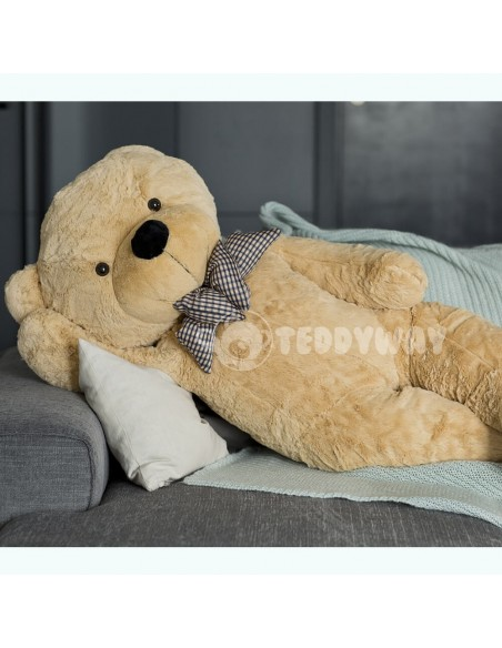 Light Beige Giant Teddy Bear 130 CM – 51 Inch – PoPo Giant Teddy Bears - Big Teddy Bears - Huge Stuffed Bears