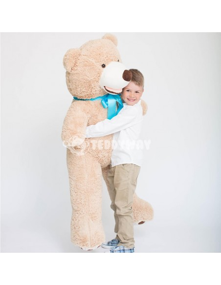 Light Beige Giant Teddy Bear 130 CM – 51 Inch – BoBo Giant Teddy Bears - Big Teddy Bears - Huge Stuffed Bears - Teddyway