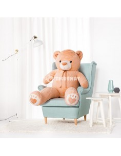 Light Beige Giant Teddy Bear 160 CM – 63 Inch – ToTo Giant Teddy Bears - Big Teddy Bears - Huge Stuffed Bears
