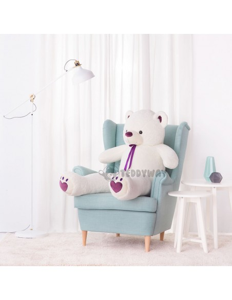 White Giant Teddy Bear 130 CM – 51 Inch – ToTo Giant Teddy Bears - Big Teddy Bears - Huge Stuffed Bears