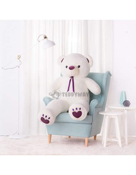 White Giant Teddy Bear 160 CM – 63 Inch – ToTo Giant Teddy Bears - Big Teddy Bears - Huge Stuffed Bears