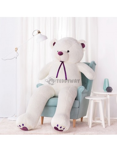 White Giant Teddy Bear 200 CM – 78 Inch – ToTo Giant Teddy Bears - Big Teddy Bears - Huge Stuffed Bears - Teddyway
