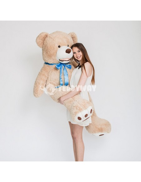 Light Beige Giant Teddy Bear 160 CM – 63 Inch – BoBo Giant Teddy Bears - Big Teddy Bears - Huge Stuffed Bears