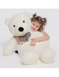 White Giant Teddy Bear 130 CM – 51 Inch – PoPo Giant Teddy Bears - Big Teddy Bears - Huge Stuffed Bears