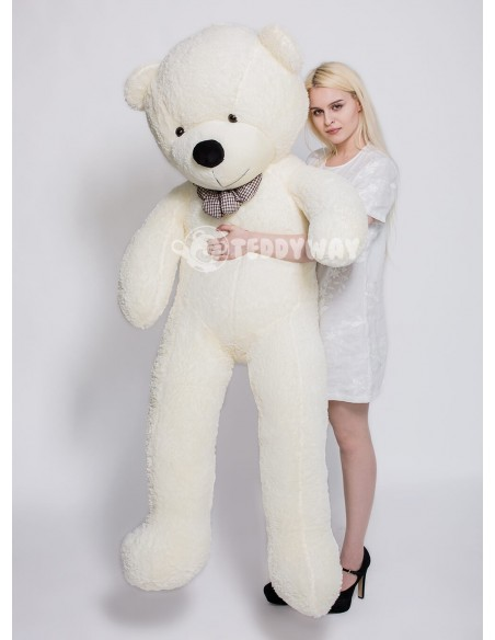 White Giant Teddy Bear 200 CM – 78 Inch – PoPo Giant Teddy Bears - Big Teddy Bears - Huge Stuffed Bears - Teddyway