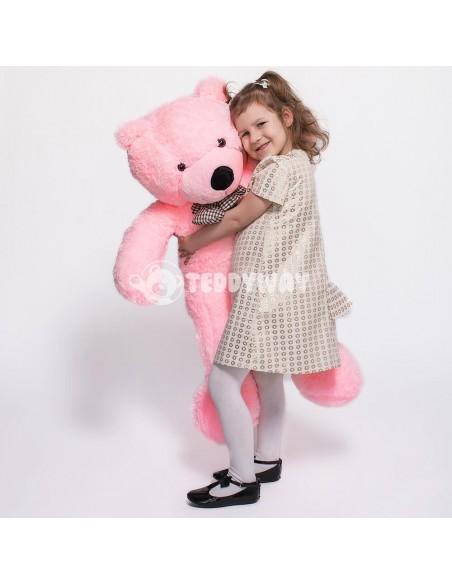 Pink Giant Teddy Bear 130 CM – 51 Inch – PoPo Giant Teddy Bears - Big Teddy Bears - Huge Stuffed Bears - Teddyway