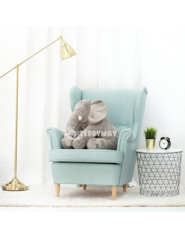Grey Giant Plush Elephant – 70 Cm – 27 Inch – HoGo Giant Stuffed Elephants - Big Plush Elephant - Huge Soft Elephant Toy