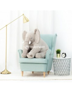 Grey Giant Plush Elephant – 85 Cm – 33 Inch – HoGo Giant Stuffed Elephants - Big Plush Elephant - Huge Soft Elephant Toy