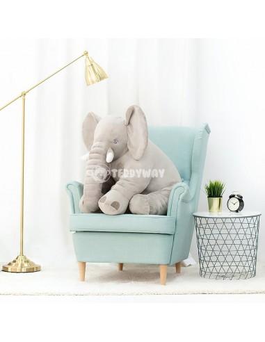 Grey Giant Plush Elephant – 85 Cm – 33 Inch – HoGo Giant Stuffed Elephants - Big Plush Elephant - Huge Soft Elephant Toy