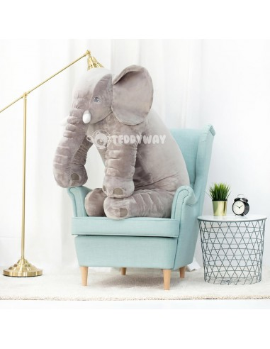 Grey Giant Plush Elephant – 125 Cm – 49 Inch – HoGo Giant Stuffed Elephants