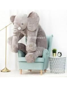 Grey Giant Plush Elephant – 155 Cm – 61 Inch – HoGo Giant Stuffed Elephants - Big Plush Elephant - Huge Soft Elephant Toy
