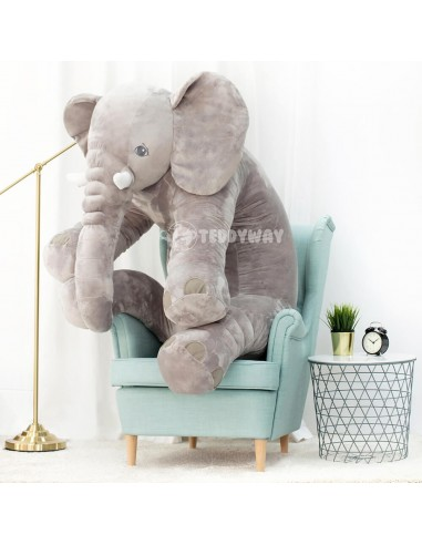Grey Giant Plush Elephant – 155 Cm – 61 Inch – HoGo Giant Stuffed Elephants - Big Plush Elephant - Huge Soft Elephant Toy - T...