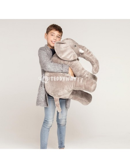 Grey Giant Plush Elephant – 85 Cm – 33 Inch – HoGo Giant Stuffed Elephants - Big Plush Elephant - Huge Soft Elephant Toy - Te...