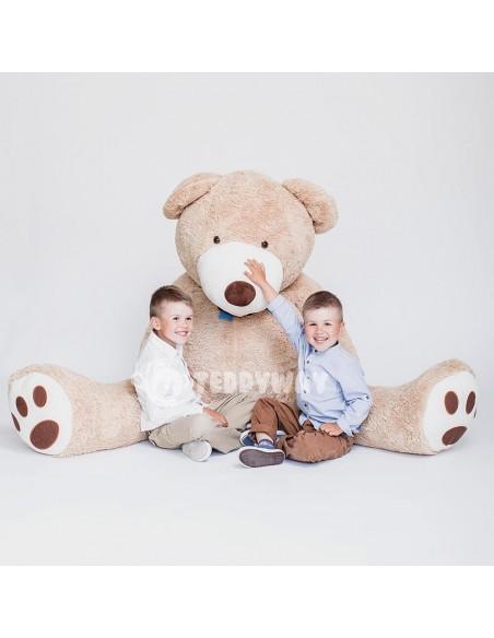 Light Beige Giant Teddy Bear 200 CM – 78 Inch – BoBo Giant Teddy Bears - Big Teddy Bears - Huge Stuffed Bears