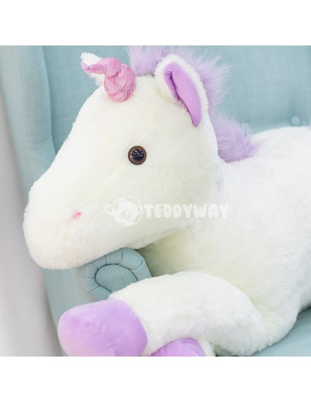White Giant Plush Unicorn – 70 Cm – 27 Inch – SoSo Giant Stuffed Unicorns - Big Plush Unicorn - Huge Soft Unicorn Toy - Teddyway