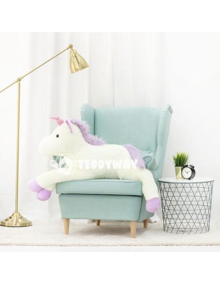 White Giant Plush Unicorn – 125 Cm – 49 Inch – SoSo Giant Stuffed Unicorns - Big Plush Unicorn - Huge Soft Unicorn Toy