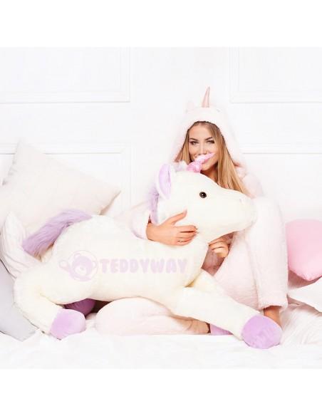 White Giant Plush Unicorn – 155 Cm – 61 Inch – SoSo Giant Stuffed Unicorns