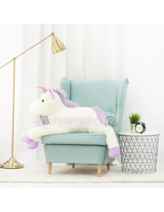 White Giant Plush Unicorn – 155 Cm – 61 Inch – SoSo Giant Stuffed Unicorns - Big Plush Unicorn - Huge Soft Unicorn Toy