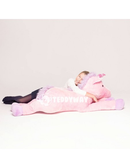 Pink Giant Plush Unicorn – 125 Cm – 49 Inch – SoSo Giant Stuffed Unicorns - Big Plush Unicorn - Huge Soft Unicorn Toy