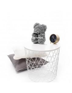 Grey Rose Teddy Bear 25 CM – 10 Inch – Oni Rose Bears - Rose Teddy Bears - Flower Teddy Bears