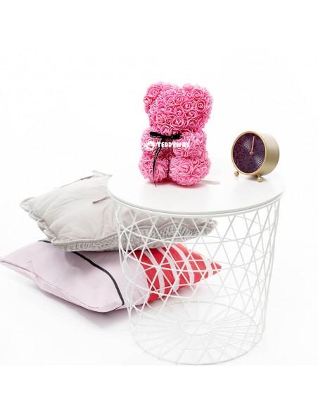 Pink Rose Teddy Bear 25 CM – 10 Inch – Oni Rose Bears - Rose Teddy Bears - Flower Teddy Bears