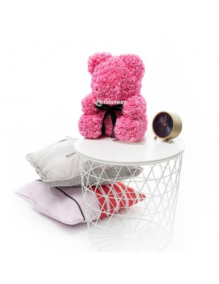 Pink Rose Teddy Bear 40 CM – 16 Inch – Oni Rose Bears - Rose Teddy Bears - Flower Teddy Bears - Teddyway