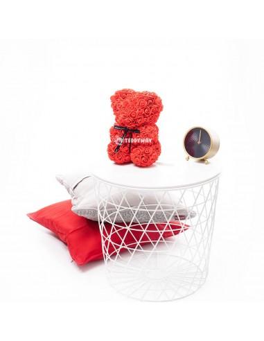 Red Rose Teddy Bear 25 CM – 10 Inch – Oni Rose Bears - Rose Teddy Bears - Flower Teddy Bears - Teddyway