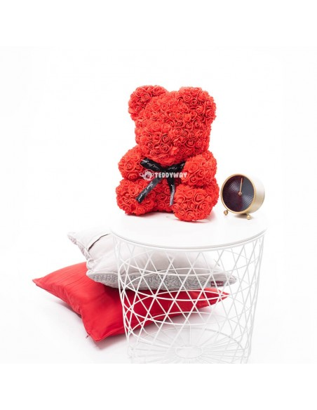 Red Rose Teddy Bear 40 CM – 16 Inch – Oni Rose Bears - Rose Teddy Bears - Flower Teddy Bears - Teddyway
