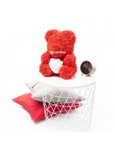 Red Rose Teddy Bear 45 CM – 18 Inch – Oti Rose Bears - Rose Teddy Bears - Flower Teddy Bears