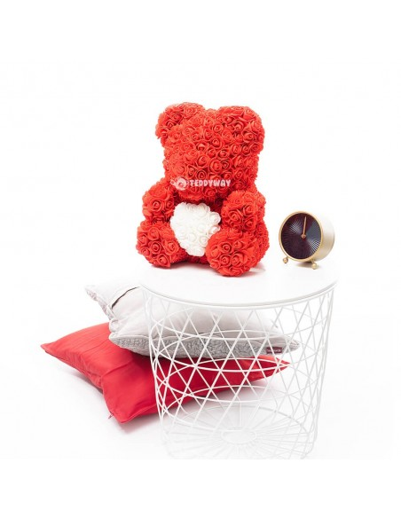 Red Rose Teddy Bear 45 CM – 18 Inch – Oti Rose Bears - Rose Teddy Bears - Flower Teddy Bears