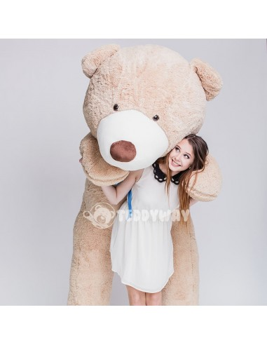 Light Beige Giant Teddy Bear 260 CM – 102 Inch – BoBo Giant Teddy Bears - Big Teddy Bears - Huge Stuffed Bears - Teddyway